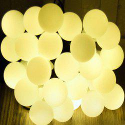 Solar Energy Courtyard Garden Festival Decoration Balls Lighting Lamp - WARM WHITE LIGHT