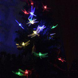 Solar Energy Courtyard Garden Festival Decoration Dragonflies Lighting Lamp - COLORFUL