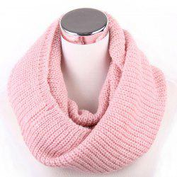 Winter Loose Turtleneck Knitted Twisted Infinity Scarf