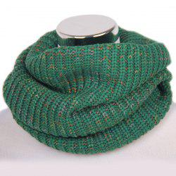 Winter Color Mixed Turtleneck Loop Knitted Infinity Scarf