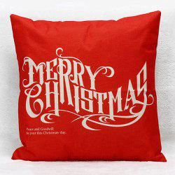 Sofa Merry Christmas Letters Pillow Case - RED