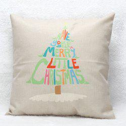 Christmas Tree Letters Pillow Case -