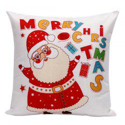 Cartoon Glasses Santa Claus Pillow Case