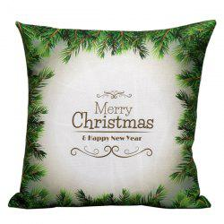Green Merry Christmas Pillow Case