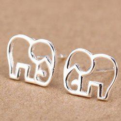 Elephant Stud Earrings - SILVER