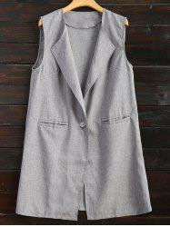 One Button Long Waistcoat -