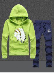 Native Printed Pullover Hoodie Twinset