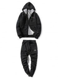 Zip Up Embroidery Hoodie Twinset -