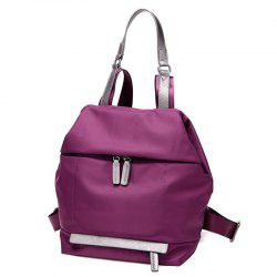 Casual PU Spliced Nylon Backpack -