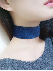 Artificial Leather Velvet Choker -