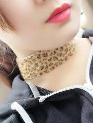 Artificial Leather Velvet Leopard Print Choker -