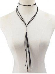 Collier de corde en cuir artificiel -