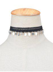 Lace Sequins Choker Necklace