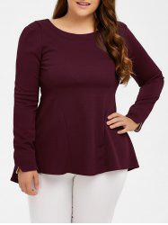 Long Sleeve Skirted Top