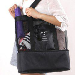 Casual Nylon Spliced Mesh Shoulder Bag