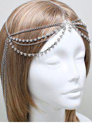 Rhinestone Layered Forehead Chain -