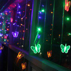 Christmas Room Decoration Butterfly Pendant LED String Light - COLORFUL