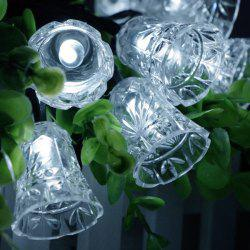 Solar Power Bell LED String Light Christmas Decoration Supplies - WHITE