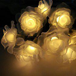 4.8M Solar Power Floral LED String Light Christmas Decoration Supplies - WARM WHITE LIGHT