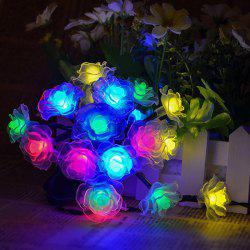 4.8M Solar Power Floral LED String Light Christmas Decoration Supplies - COLORFUL