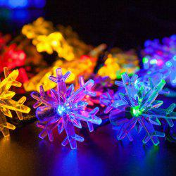 Christmas Supplies Snowflake 4.8M Solar Power LED String Light Decoration - COLORFUL