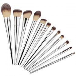 12 Pcs Facial Fiber Makeup Brushes Set -