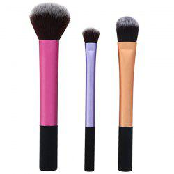 3 Pcs Fiber Facial Makeup Brushes Set
