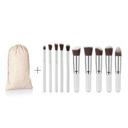 10 Pcs Fiber Face Eye Makeup Brushes Kit -