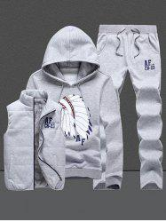 Native Printed Pullover Hoodie Three Piece Set