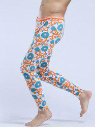 Floral Print Low Rise Thermal Long Johns