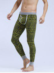 Breathable U Convex Pouch Houndstooth Warmth Long Pants