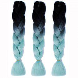 1 Pcs Heat Resistant Fiber Multicolor Ombre Braided Hair Extensions