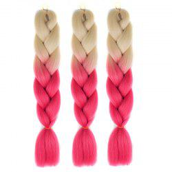 1 Pcs Heat Resistant Fiber Multicolor Braided Hair Extensions - RED WITH WHITE