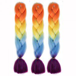 1 Pcs Colorful Long High Temperature Fiber Braided Hair Extensions -