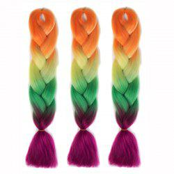 Multicolor High Temperature Fiber Long Braided 1 Pcs Hair Extensions