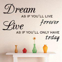 Dream Letters Vinyl Quote Wall Sticker Custom