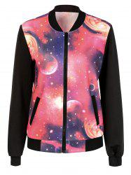 Galaxy Zip Up Jacket - RED 2XL