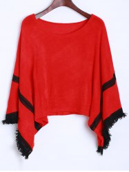 Tassel Knitted Dolman Sweater -