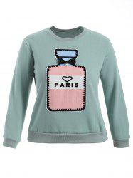 Paris Plus Size Pullover Sweatshirt - MINT GREEN