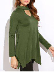 Cut Out Side Slit Blouse