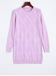 Scalloped Diamond Pattern Long Knitwear