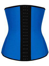 Steel Strapless Tight Waist Training Corset - BLUE