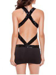 Halter Backless Criss Cross Mini Bodycon Bandage Party Dress