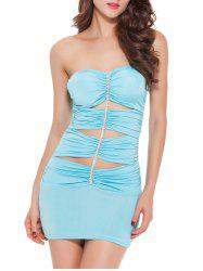 Hollow Out Club Tube Bandage Bodycon Dress
