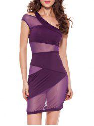 One Shoulder Cut Out Bodycon Club Dress