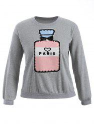 Paris Plus Size Pullover Sweatshirt - GRAY