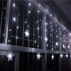 Christmas Indoor Decor Snowflake Pendant LED String Light - WHITE
