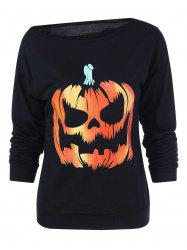 Skew Collar Halloween Sweatshirt