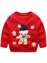 Cartoon Long Sleeve Sweater - RED