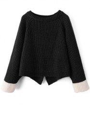 Raglan Sleeve Chunky Knit Sweater
